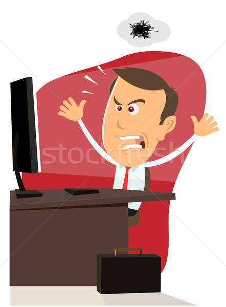 Erro 404 computador bicho trabalhar ilustração Foto stock © benchart