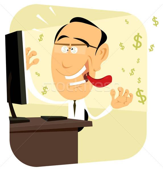 куш иллюстрация Crazy больным деньги Сток-фото © benchart