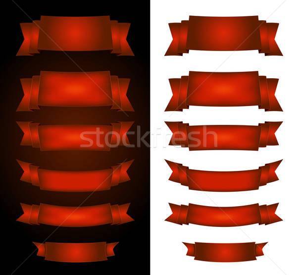 ストックフォト: 赤 · サーカス · バナー · 黒白 · 実例 · コレクション