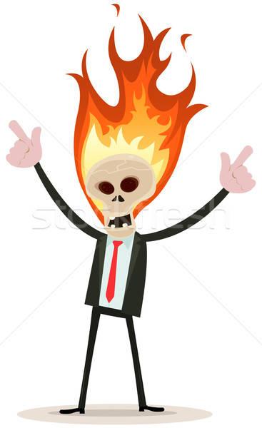 Skeleton Head Devil Businessman Stock photo © benchart
