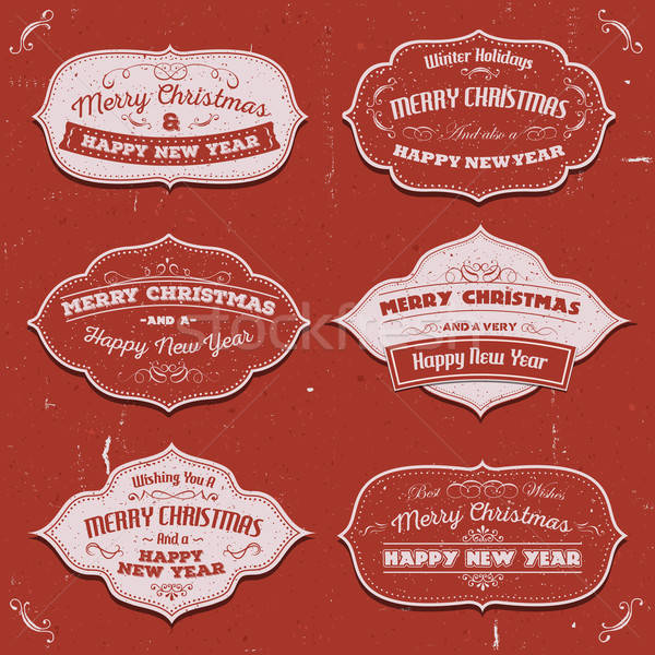 Merry Christmas Banners, Badges And Frames Stock photo © benchart