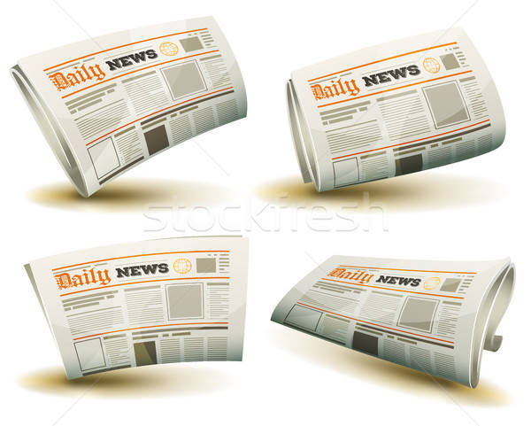 Newspaper Icons Set Stock photo © benchart