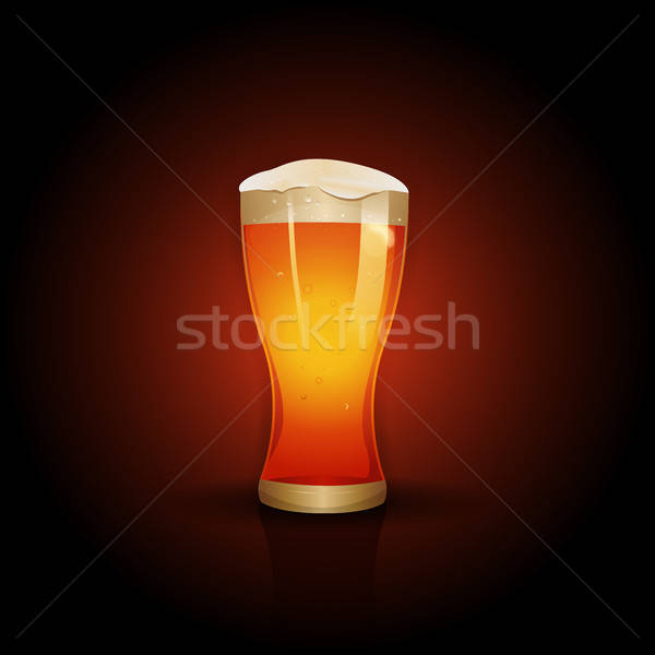 Bière design illustration bouche verre Photo stock © benchart