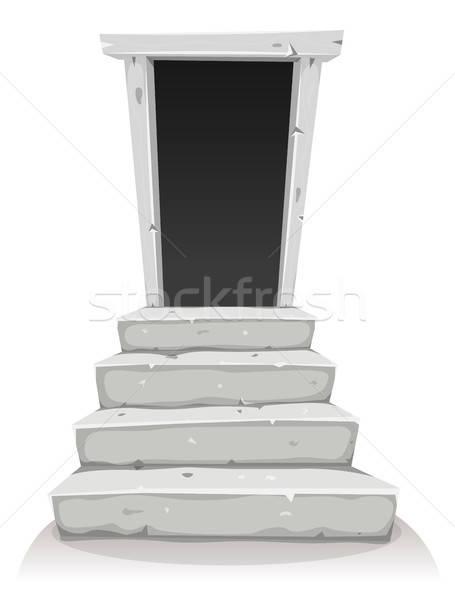 Empty Door On Stairway Stock photo © benchart