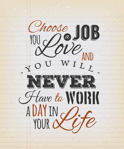 Seçmek iş sevmek aktarmak örnek yaratıcı Stok fotoğraf © benchart