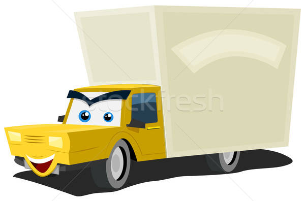 Cartoon Delivery Truck Character Stock photo © benchart