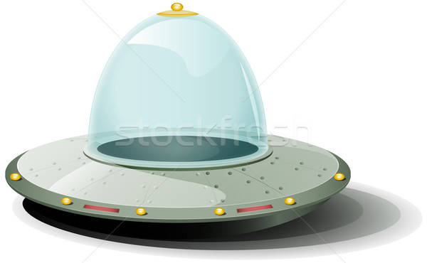 Retro rajz űrhajó illusztráció leszállás föld Stock fotó © benchart