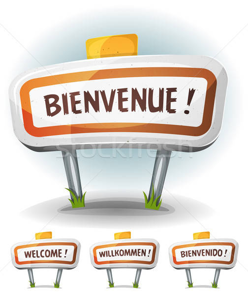 Welcome Town Or City Sign Stock photo © benchart