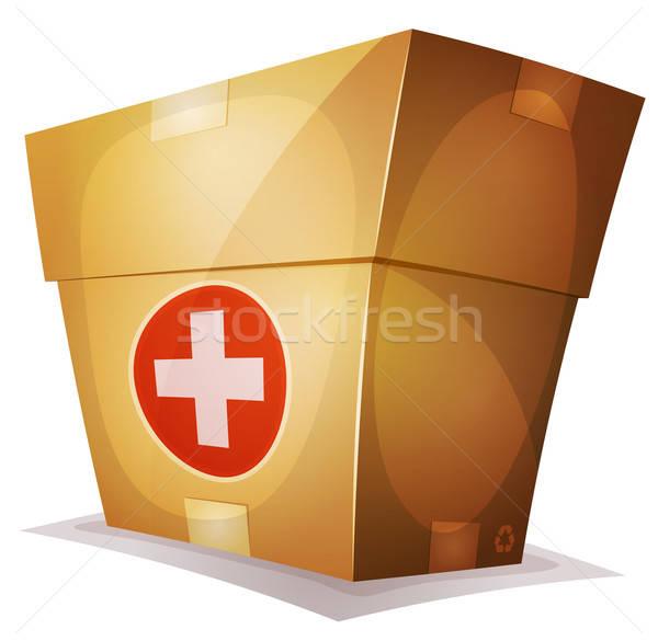 Vicces gyógyszer doboz ui játék illusztráció Stock fotó © benchart