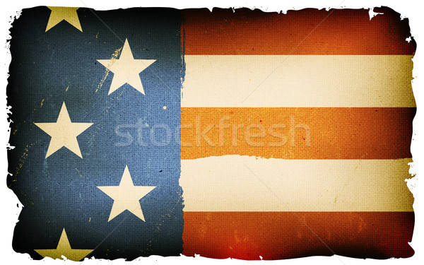 Vintage Fourth Of July Poster Stock photo © benchart