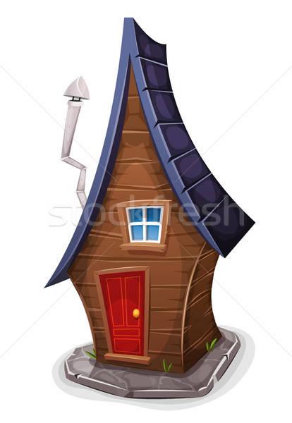 комического дома фея иллюстрация Cartoon смешные Сток-фото © benchart