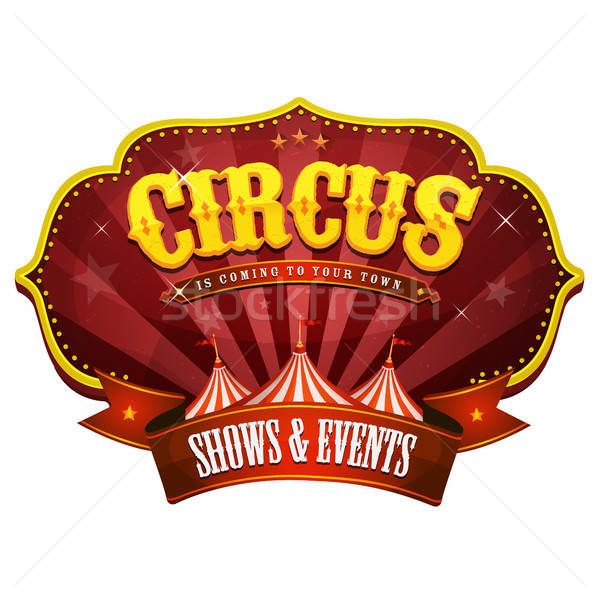 Carnival Circus Banner With Big Top Stock photo © benchart