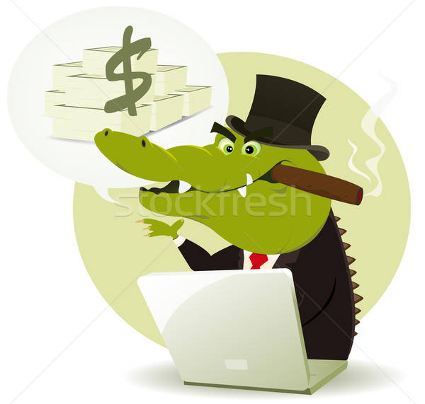 Crocodile illustration drôle cartoon achat Photo stock © benchart