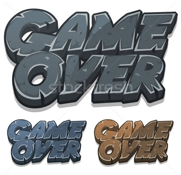 Cartoon Game Over Icon For Ui Game Stock photo © benchart