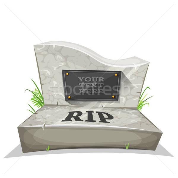 Mezar taşı örnek karikatür mermer barış Stok fotoğraf © benchart