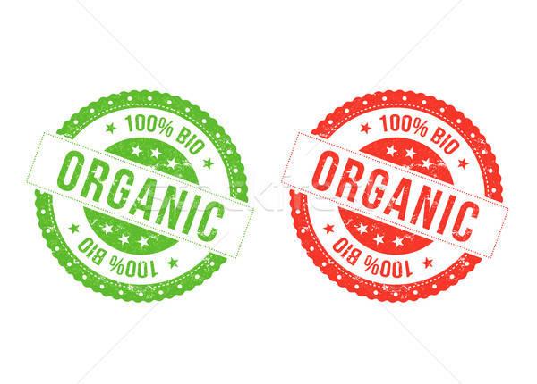 Orgânico bio ilustração conjunto vermelho verde Foto stock © benchart