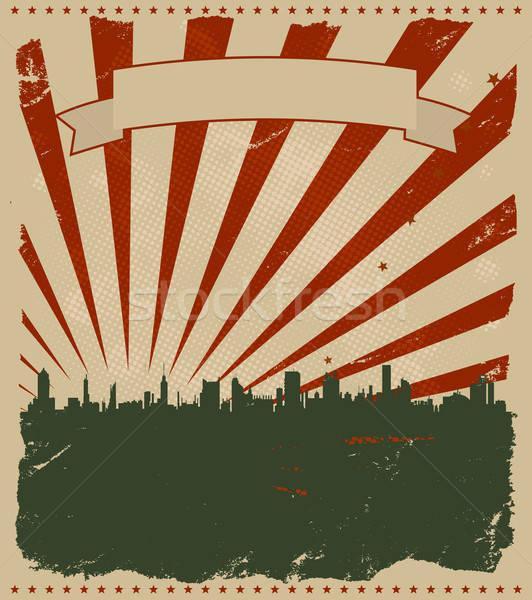 Zdjęcia stock: Grunge · amerykański · plakat · ilustracja · cool · wakacje