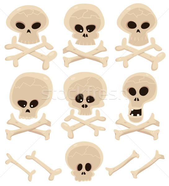 Skull And Cross Bones Set Stock photo © benchart