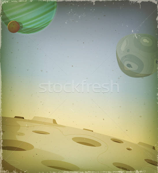 Scifi grunge exotiques planète illustration cartoon Photo stock © benchart