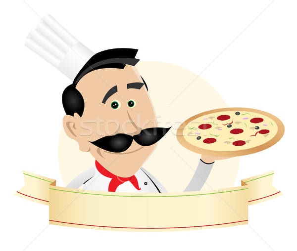 Chef Pizza Restaurant Banner Stock photo © benchart