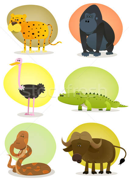 African Wild Animals Set Stock photo © benchart