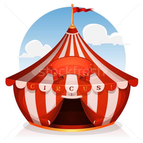 Grande top circo banner illustrazione cartoon Foto d'archivio © benchart