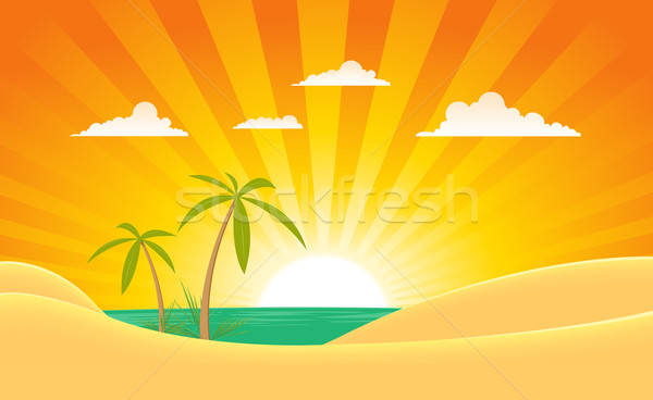 Stock photo: Summer Ocean Landscape Banner