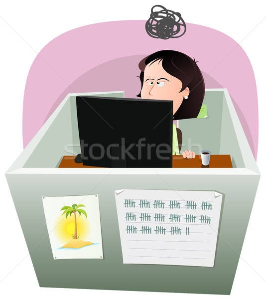 Life In The Cube - Woman Stock photo © benchart