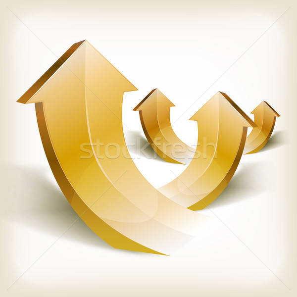 Abstract Golden Rising Arrows Stock photo © benchart