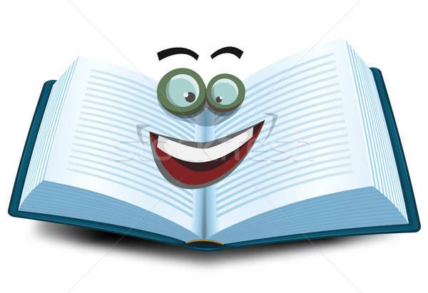 Open Book Character Icon Stock photo © benchart