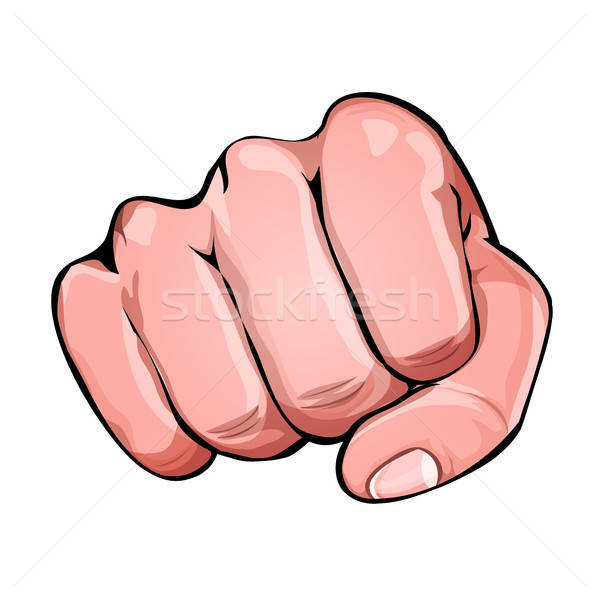Stock photo: Comic Power Fist Punching