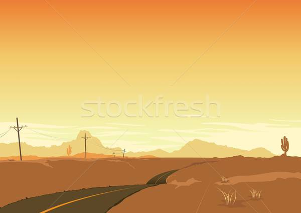 Desert Landscape Poster Background Stock photo © benchart