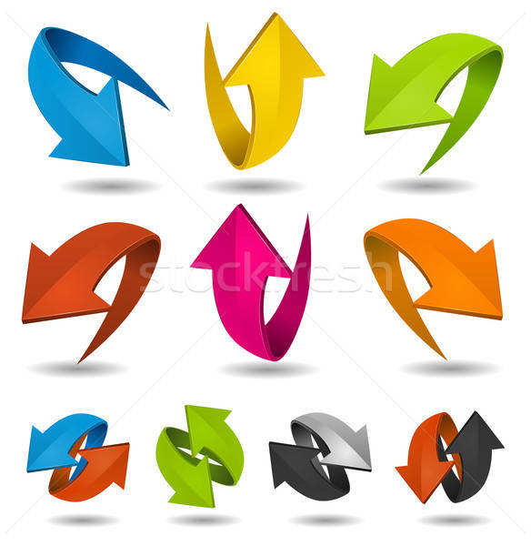 Colorful Motion Arrows Set Stock photo © benchart