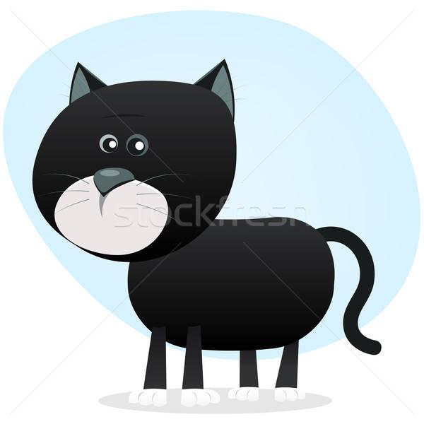 Cartoon Black Cat Stock photo © benchart