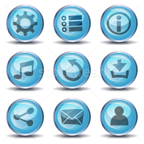 Icons And Buttons For Ui Game Stock photo © benchart