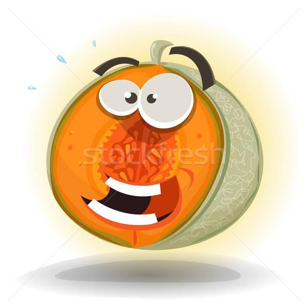 Karikatür komik kavun karakter örnek sağlıklı Stok fotoğraf © benchart