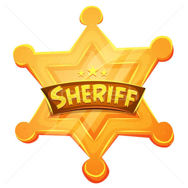 Sheriff Marshal Star Gold Medal Icon Stock photo © benchart