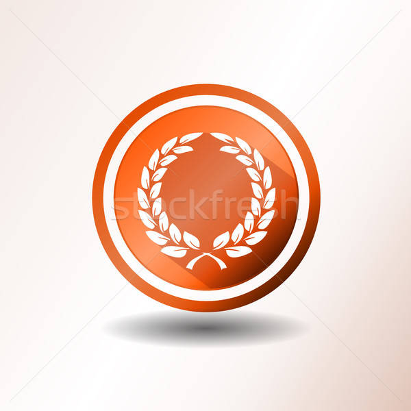 Award Laurel Wreath Icon In Flat Design Stock photo © benchart