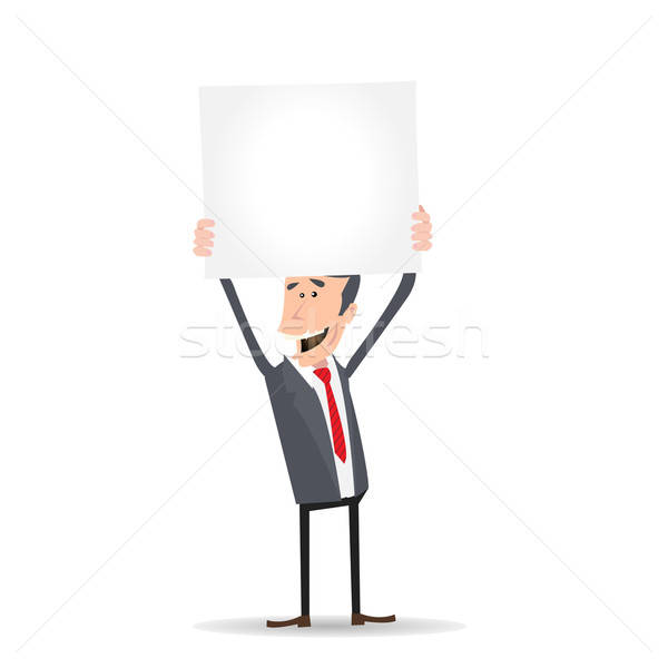 Cartoon Businessman Sign Stock photo © benchart