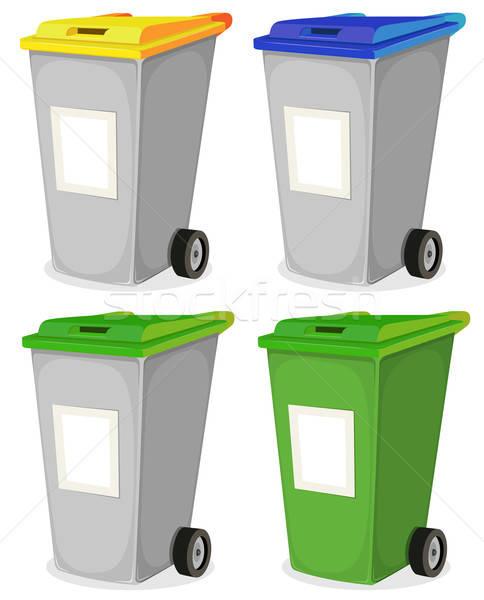 Set städtischen wiederverwertbar Papierkorb Illustration Stock foto © benchart