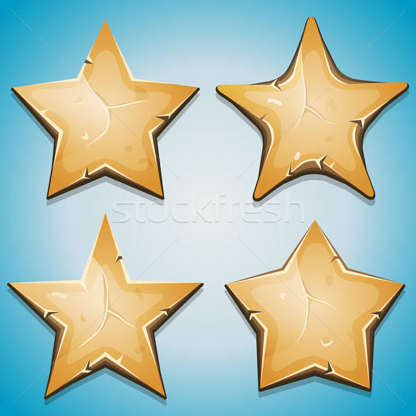 Sand Stars Icons For Ui Game Stock photo © benchart