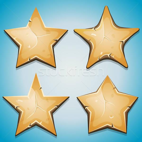 Arena estrellas iconos ui juego ilustración Foto stock © benchart