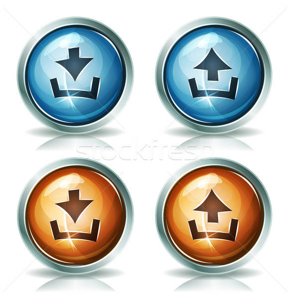 Download And Upload Web Icons Stock photo © benchart