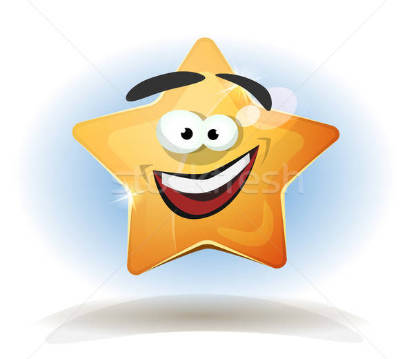 Funny Star Character Icon Stock photo © benchart