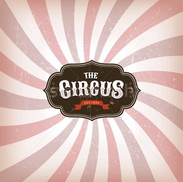 Cirkusz grunge textúra illusztráció retro klasszikus bannerek Stock fotó © benchart