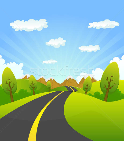 Spring Or Summer Road To The Mountain Stock photo © benchart