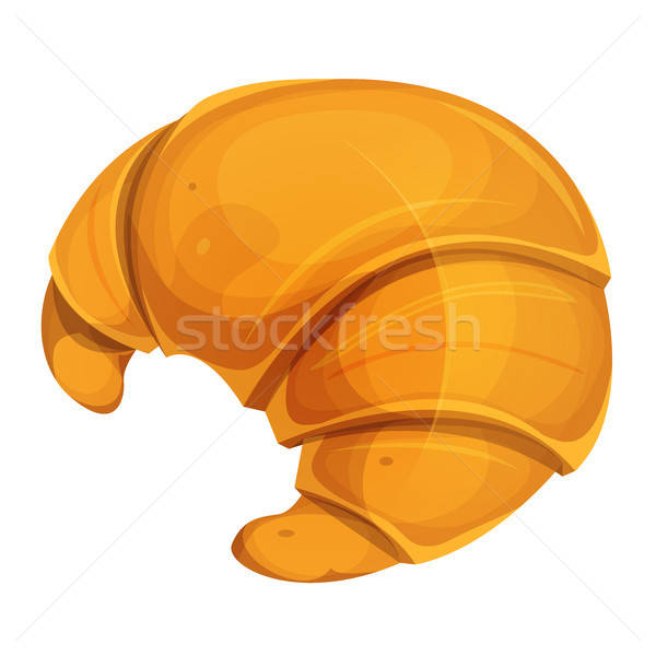 Francês croissant ícone ilustração apetitoso comida Foto stock © benchart