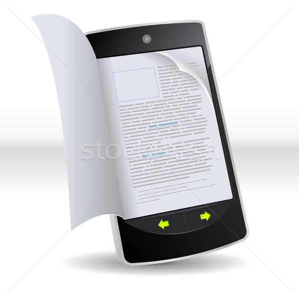 Smartphone Flipping Book Stock photo © benchart
