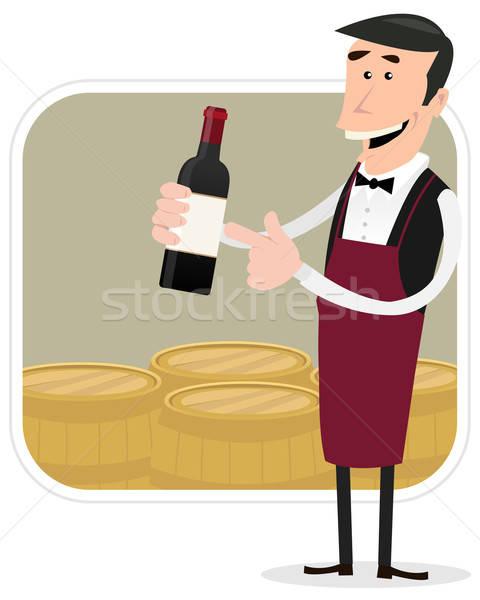 Cartoon Winemaker Stock photo © benchart