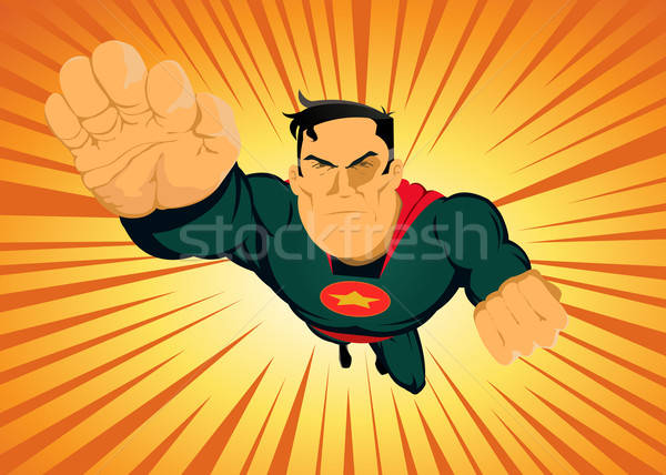 Comic Superhero - Fast And Furious Stock photo © benchart